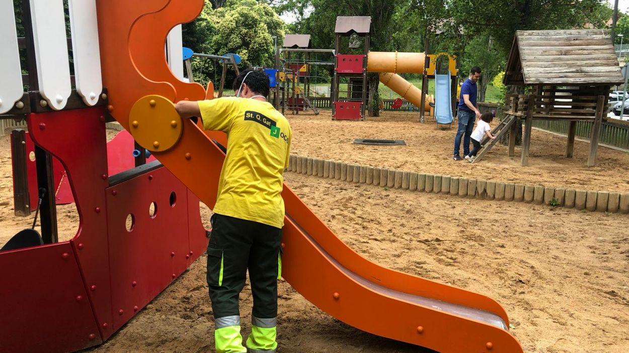 Reobren els parcs infantils de Sant Cugat