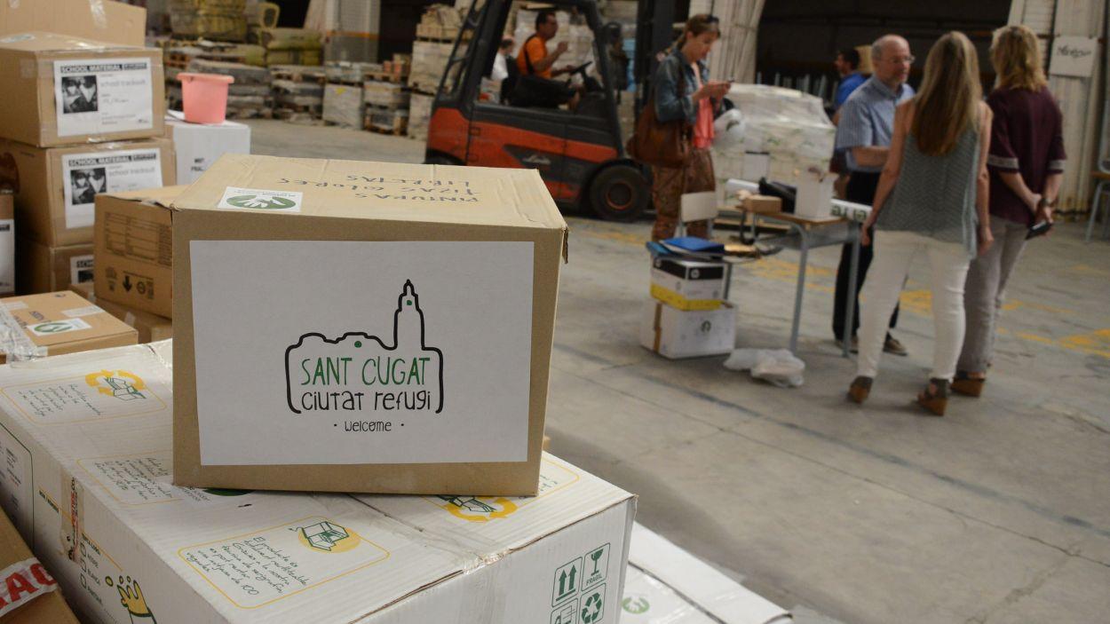 Sant Cugat ha mostrat el seu suport als refugiats / Foto: Localpres