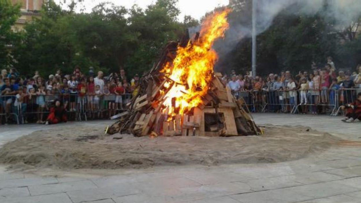 La Flama del Canigó canvia d'ubicació / Font: Cugat Mèdia