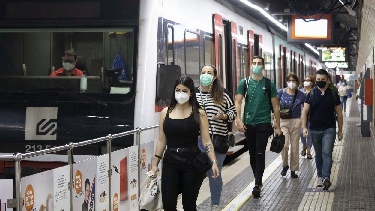 Tot i l'augment respecte la setmana passada, la pandèmia ha afectat l'afluència a FGC a Sant Cugat / Foto: FGC