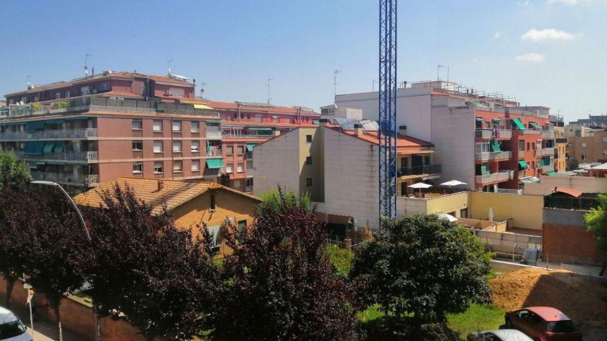 Vista d'una parcel·la en obres a Sant Cugat / Foto: Cugat Mèdia