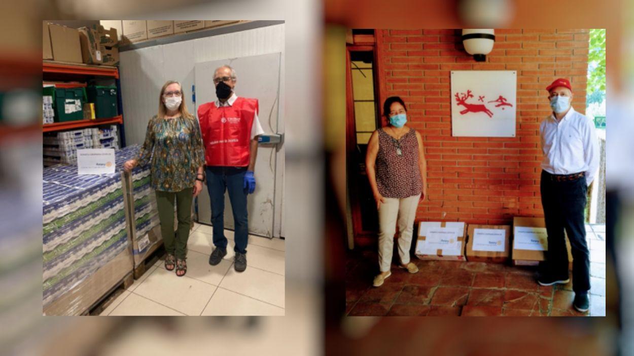 La tasca de l'entitat no s'ha aturat malgrat el confinament / Foto: Rotary Club Sant Cugat