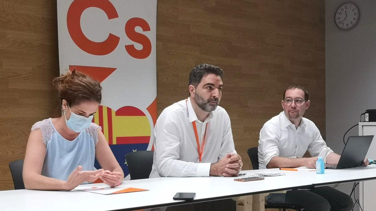 Els tres regidors de Cs / Foto: Cs Sant Cugat