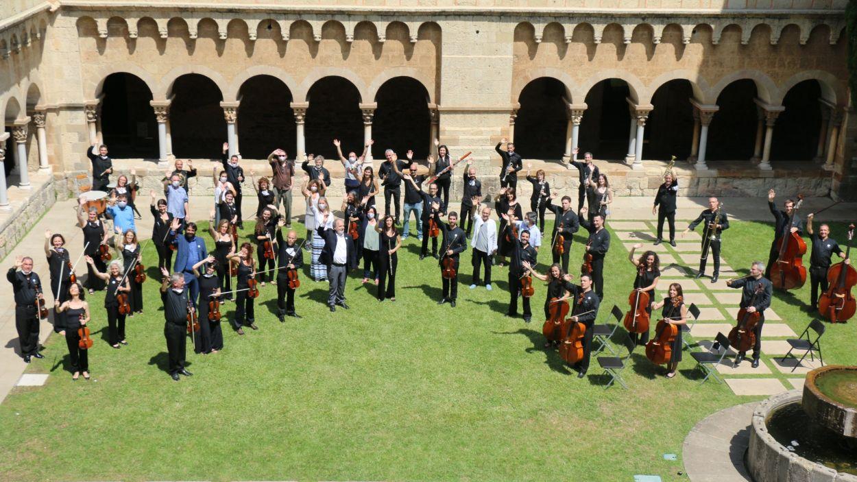 La Simfònica va celebrar les tres dècades de vida al Claustre del Monestir / Foto: Ajuntament