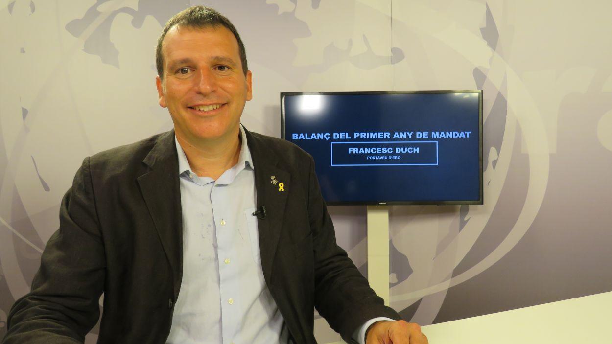 El portaveu del grup municipal d'ERC-MES, Francesc Duch / Foto: Cugat Mèdia
