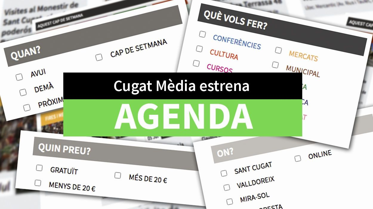 Imatge de la nova agenda de Cugat Mèdia / Font: Cugat Mèdia
