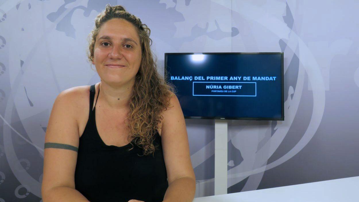 La portaveu de la CUP-PC, la tinenta d'alcaldia Núria Gibert / Foto: Cugat Mèdia