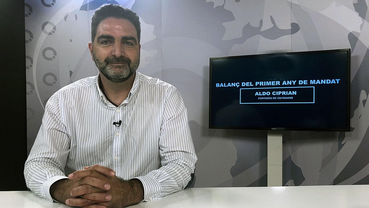 Aldo Ciprian al plató de Cugat Mèdia / Foto: Cugat Mèdia