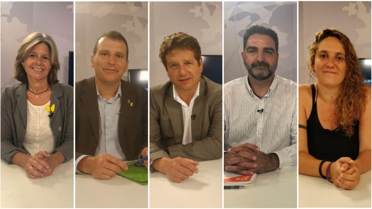 Els cinc portaveus dels grups municipals de Sant Cugat han passat pel plató de Cugat Mèdia / Foto: Cugat Mèdia