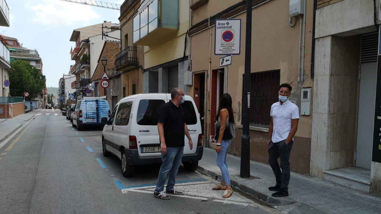 Imatge de les noves places d'aparcament comercial / Foto: Ajuntament