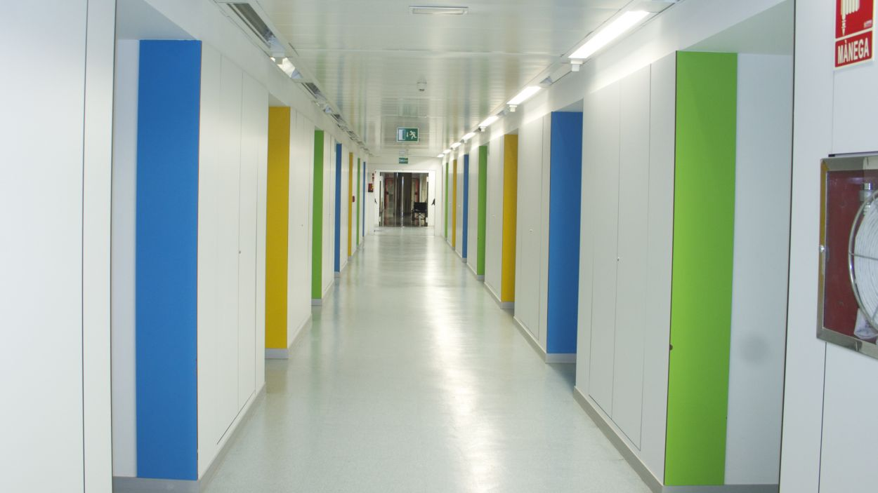Imatge d'un passadís de l'Hospital Universitari General de Catalunya / Foto: HUGC