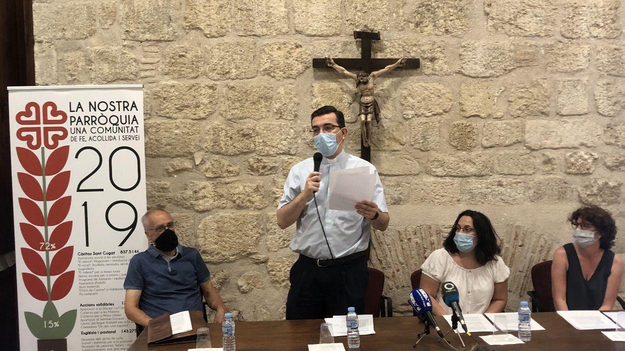 Imatge de la presentació de la memòria de Càritas Sant Cugat del 2019 / Foto: Cugat Mèdia