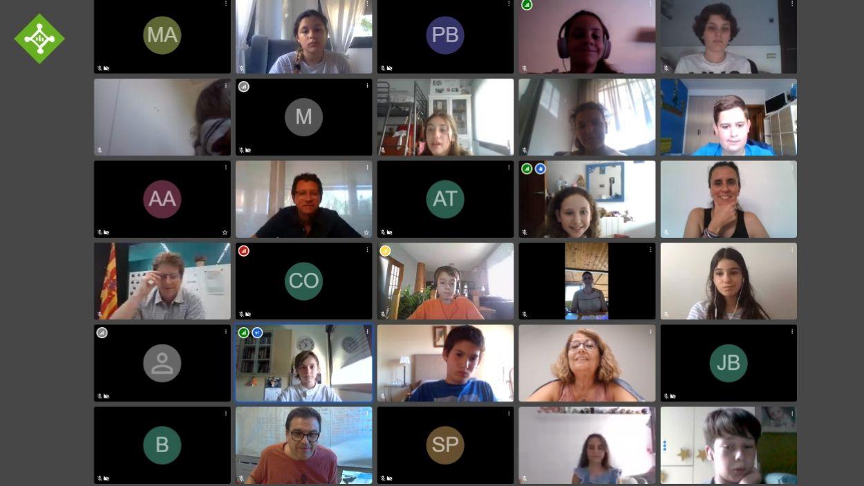 El consell d'infants de Sant Cugat vol contribuir a la lluita contra el canvi climàtic / Foto: Captura de pantalla de la sessió