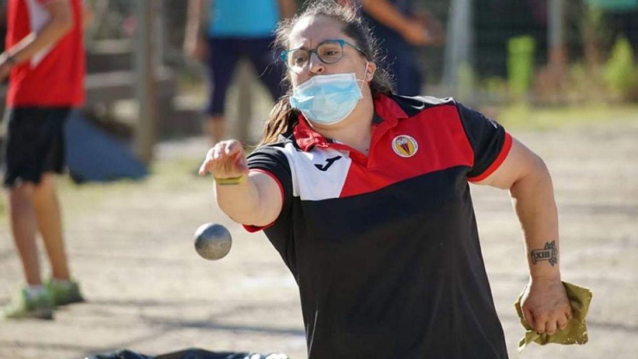 Raquel Sánchez ha repassat la trajectòria / Font: Club Petanca St Cugat