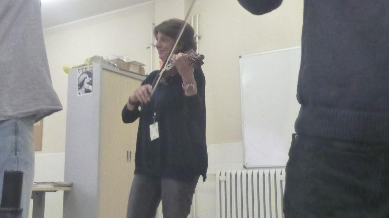 Canòlich Prats, en una classe al CP Joves / Foto: Cedida