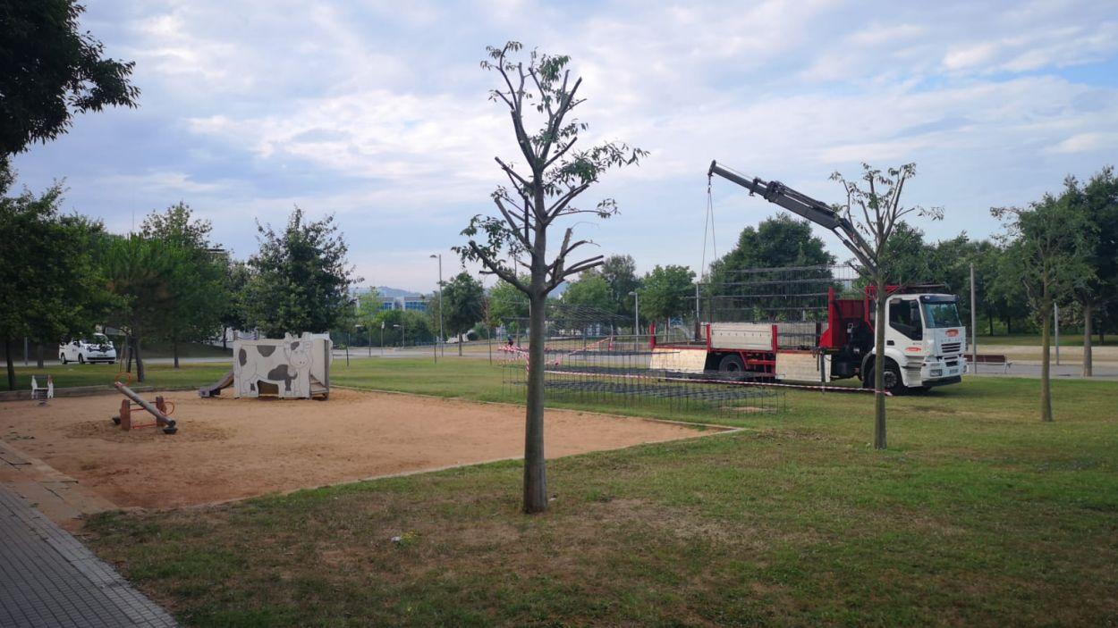 Les obres a la zona on s'ubicaran els mòduls, a Volpelleres, han començat aquest juliol / Foto: Ajuntament