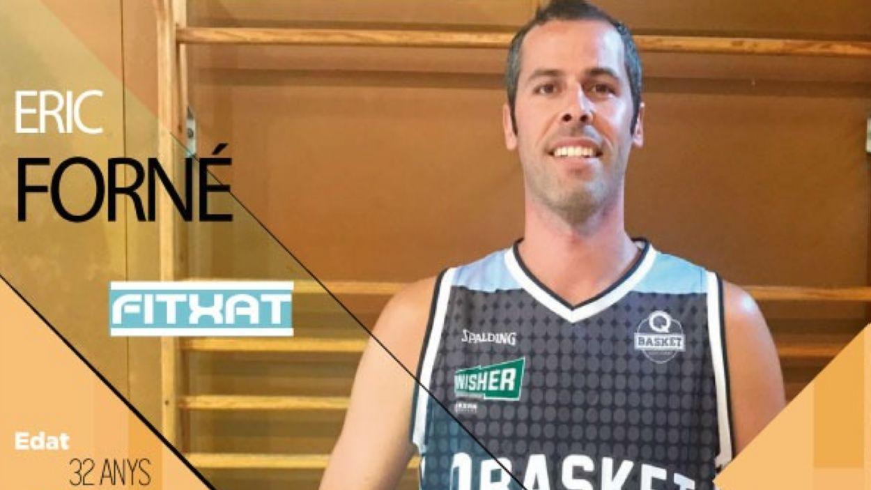 Éric Forné, reforç destacat per al Qbasket Sant Cugat / Font: Qbasket Sant Cugat