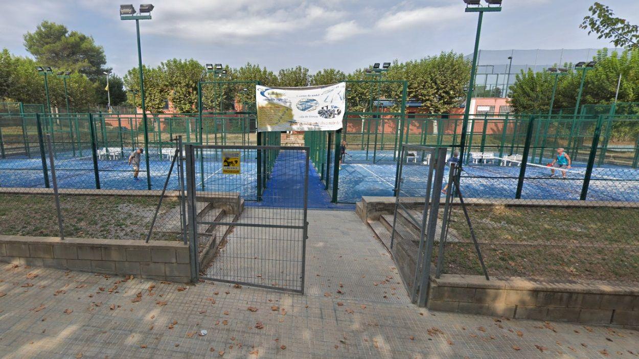 Imatge de les pistes de pàdel del complex esportiu de Valldoreix / Foto: Google Maps