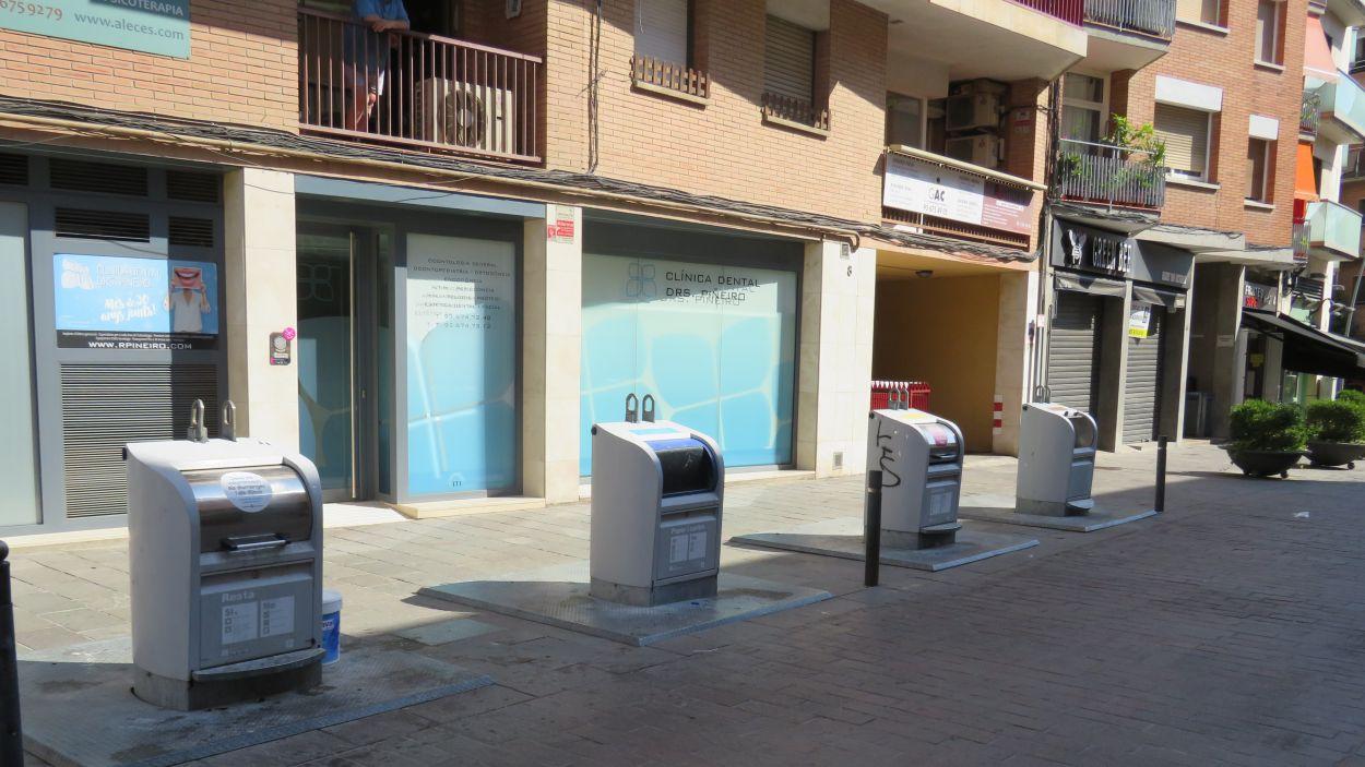 Imatge de diferents contenidors a la ciutat / Font: Cugat Mèdia
