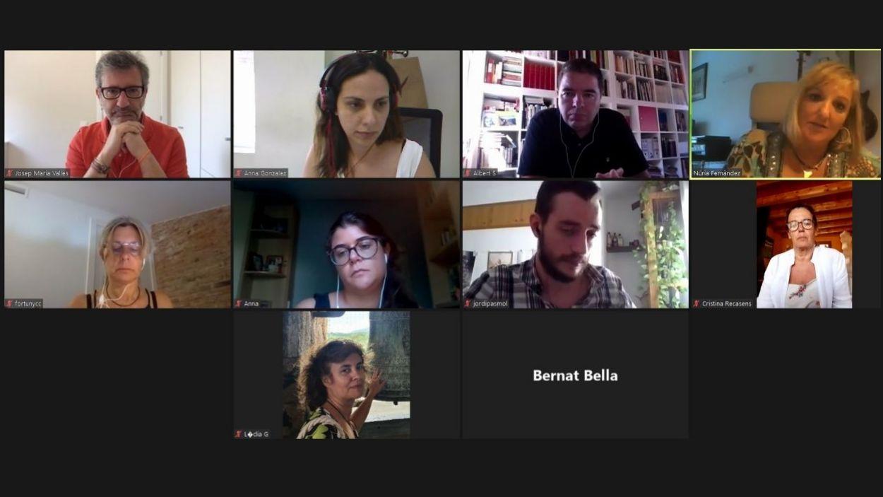 La roda de premsa de Junts per Sant Cugat s'ha fet telemàticament / Foto: Captura de pantalla