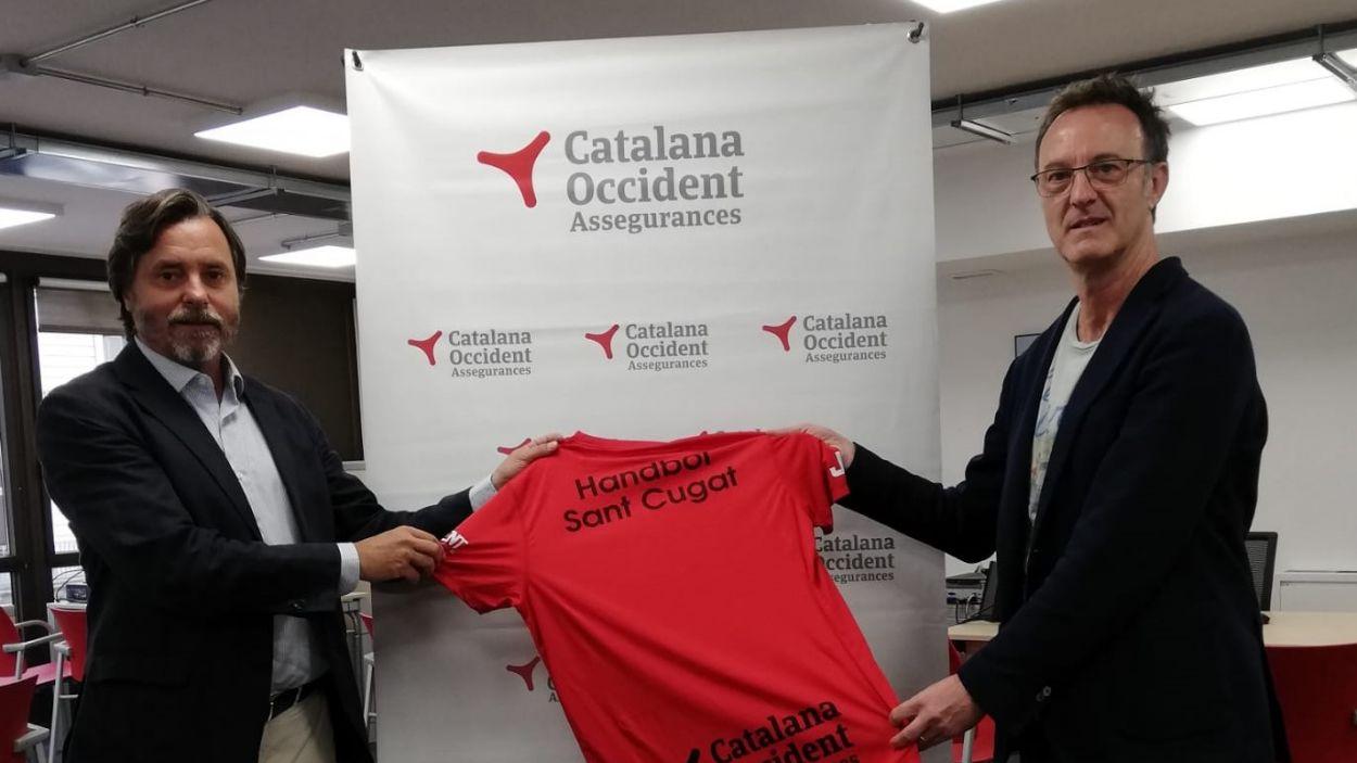 L'Handbol Sant Cugat i Catalana Occident segueixen junts / Font: Catalana Occident