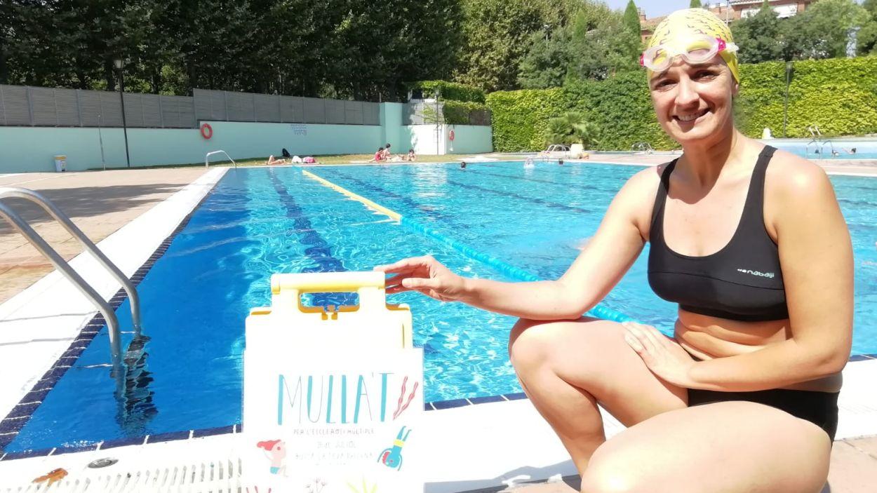Gemma Aristoy ha donat suport a la campanya 'Mulla't per l'esclerosi múltiple' / Font: Cugat Mèdia