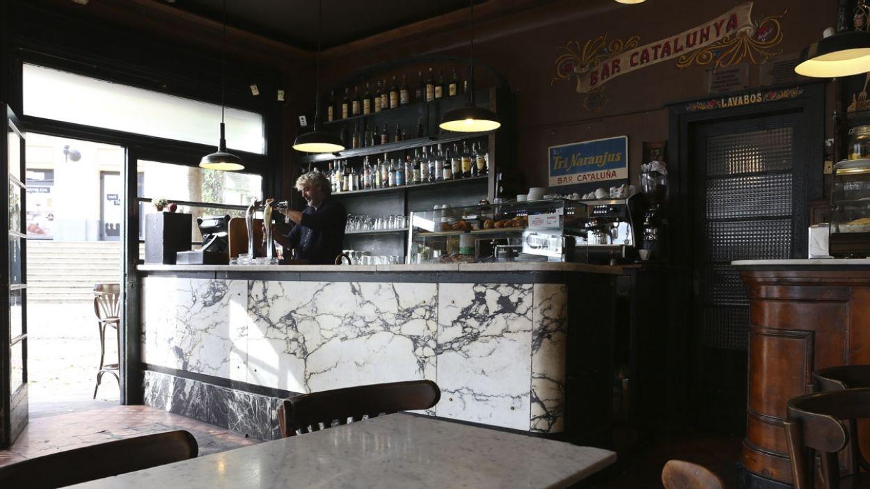 Imatge de l'interior del Bar Catalunya / Foto: Lluís Llebot