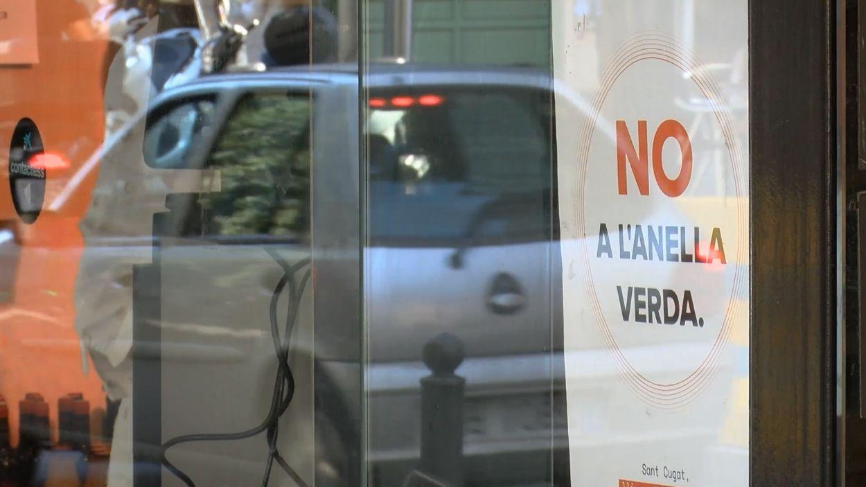 Diversos comerços s'han mostrat en contra de l'anella verda / Foto: Cugat Mèdia