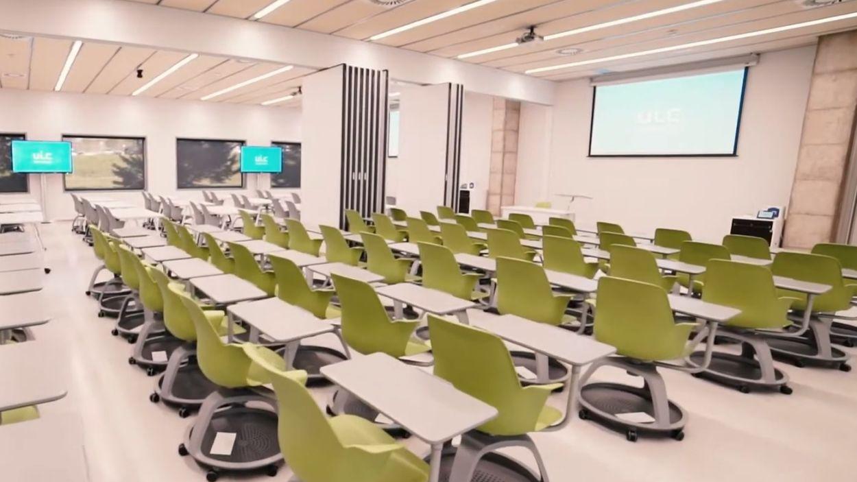 Les noves aules de la facultat de magisteri al campus UIC Sant Cugat / Foto: UIC