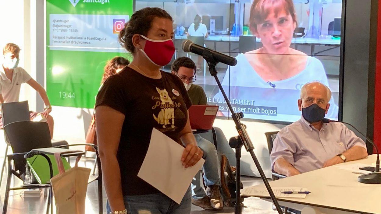 La membres de la Plataforma No TM Sant Cugat Mireia Sanjuan / Foto: Cugat Mèdia