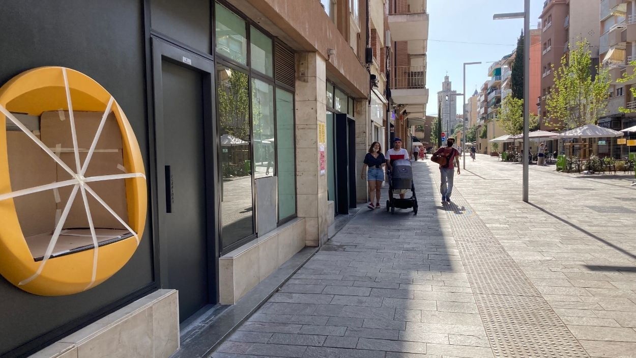 La darrera oficina de l'avinguda de Cerdanyola va tancar fa dos mesos / Foto: Cugat Mèdia