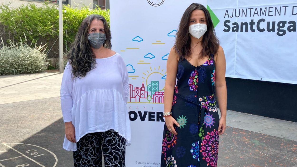 Lourdes Llorente i Maria Sirvent han valorat el final de la fase d'instrucció del 'cas 3%' / Foto: Cugat Mèdia