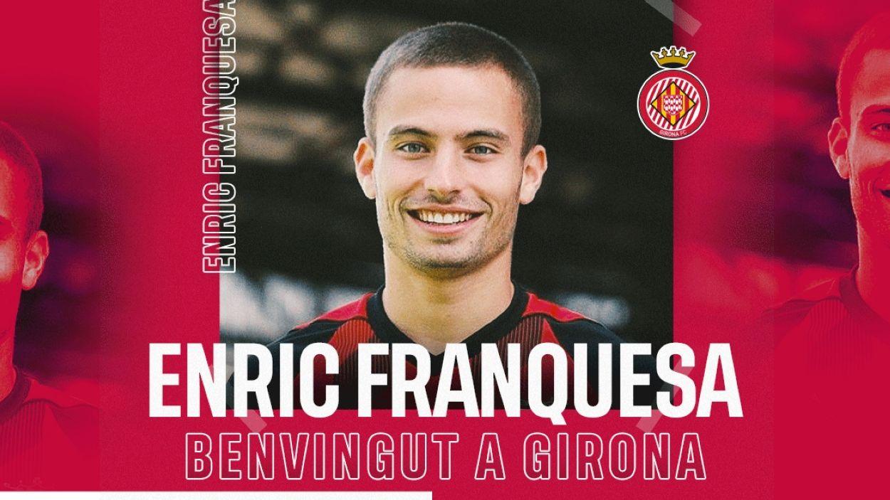 El santcugatenc Enric Franquesa / Foto: Girona FC