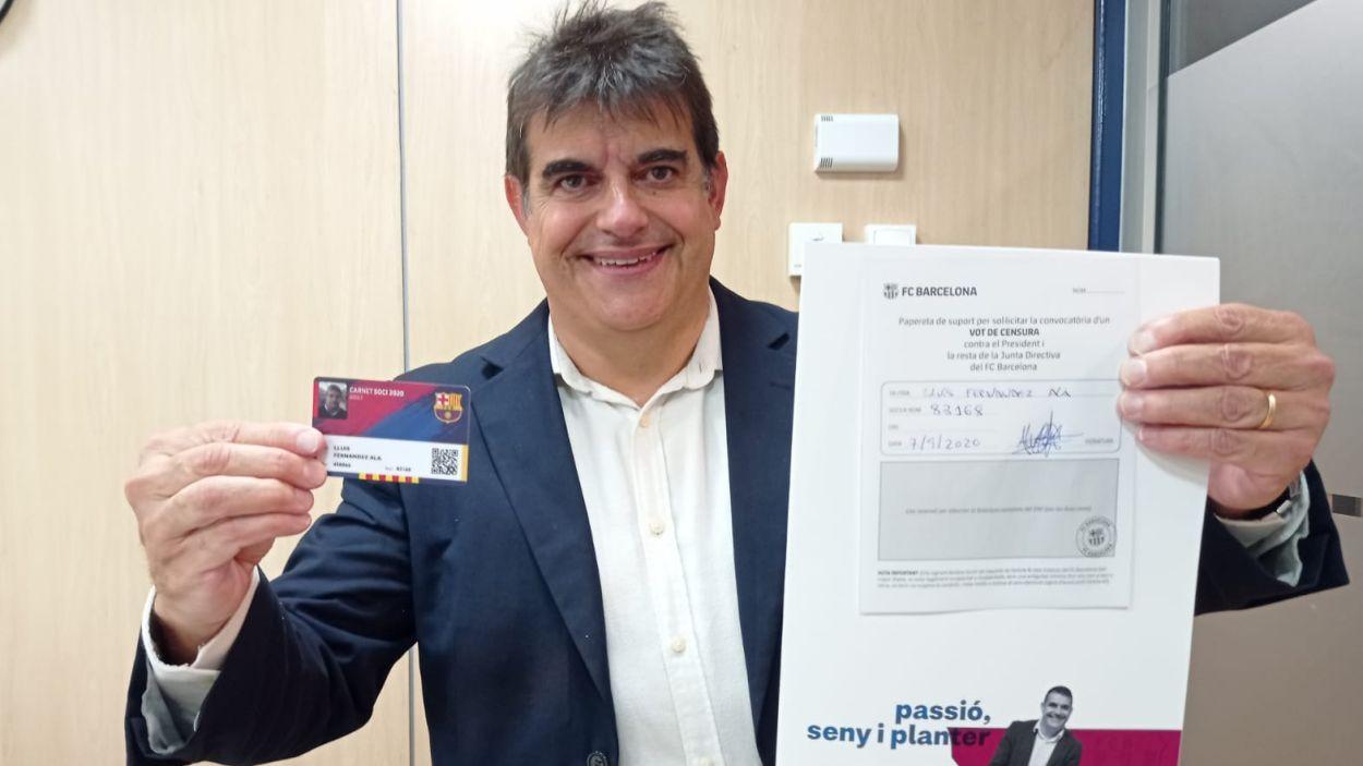 Lluís Fernández Alà dona suport a la moció de censura / Font: Comunicació Lluís Fernández