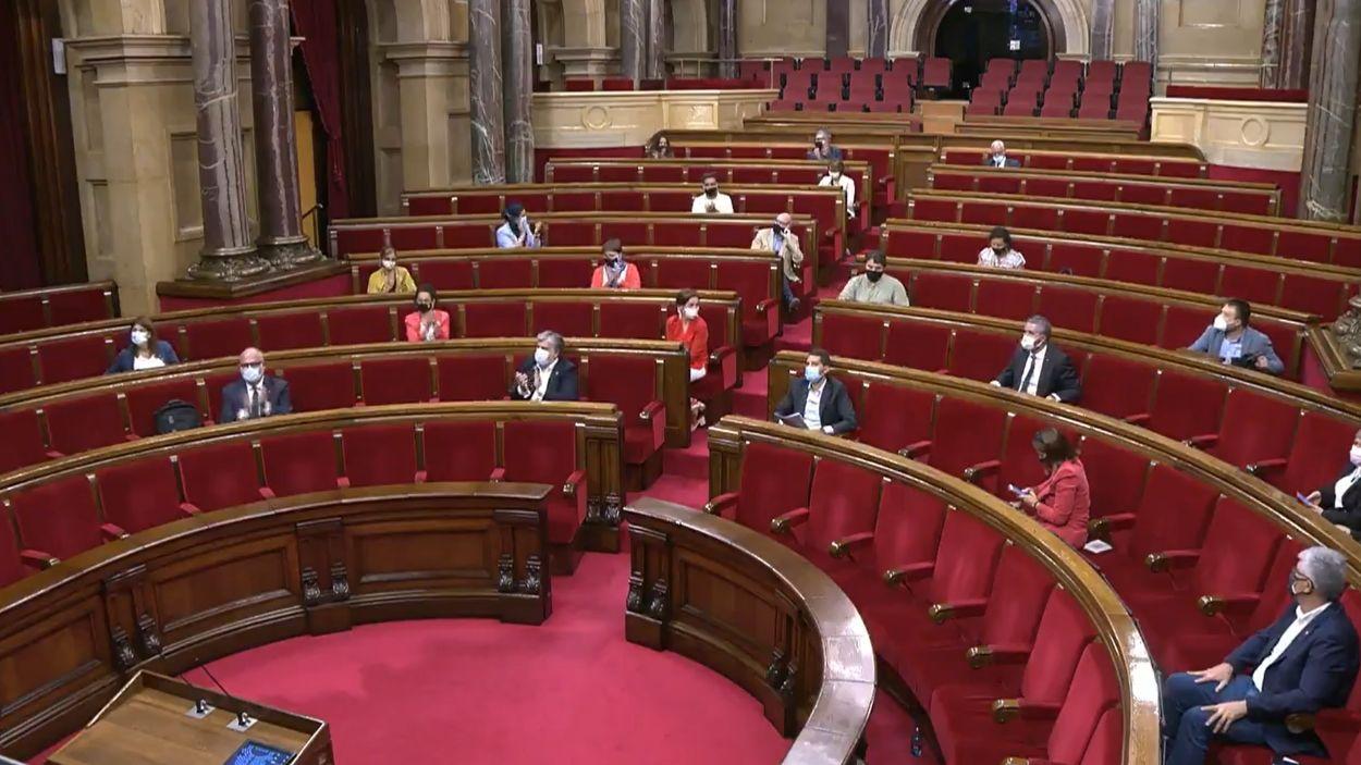 Moment de la votació de la llei / Foto: Twitter Parlament