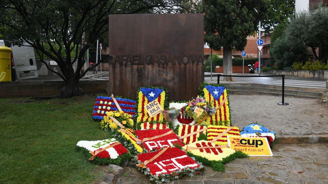 L'ofrena a Sant Cugat té lloc a la plaça de Rafael Casanova / Foto: Localpres