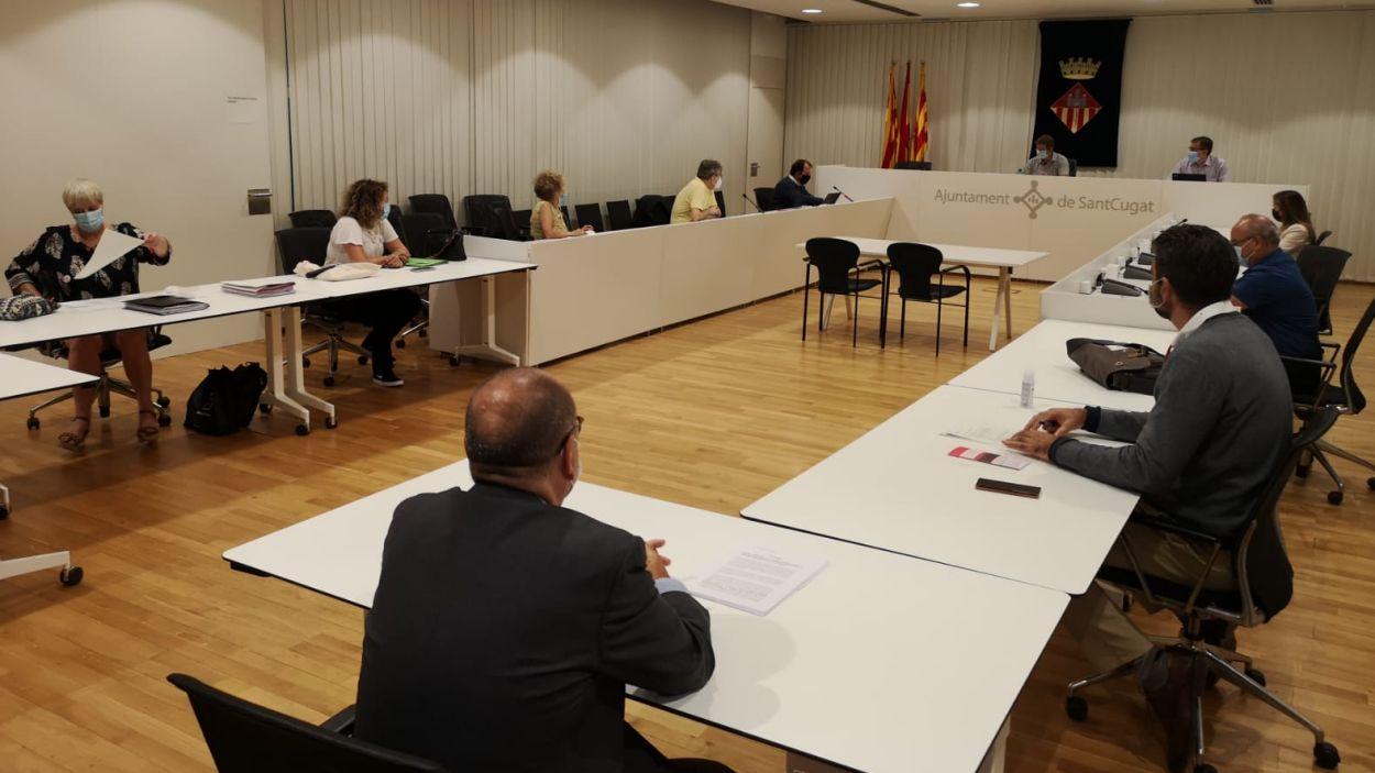 Imatge de la taula de diàleg del tribut metropolità de setembre / Foto: Ajuntament de Sant Cugat