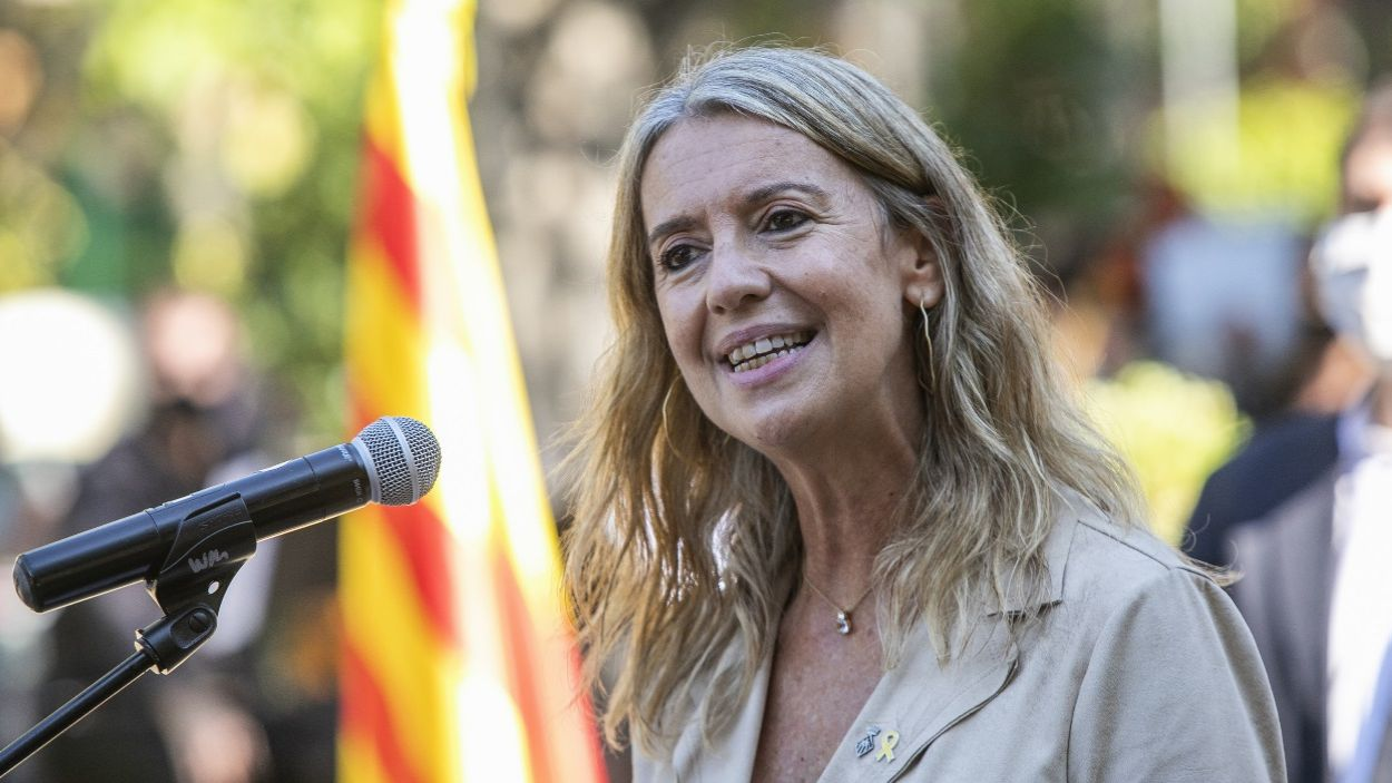 L'alcaldessa de Sant Cugat, Mireia Ingla, durant el discurs / Foto: Lali Puig (Ajuntament de Sant Cugat)