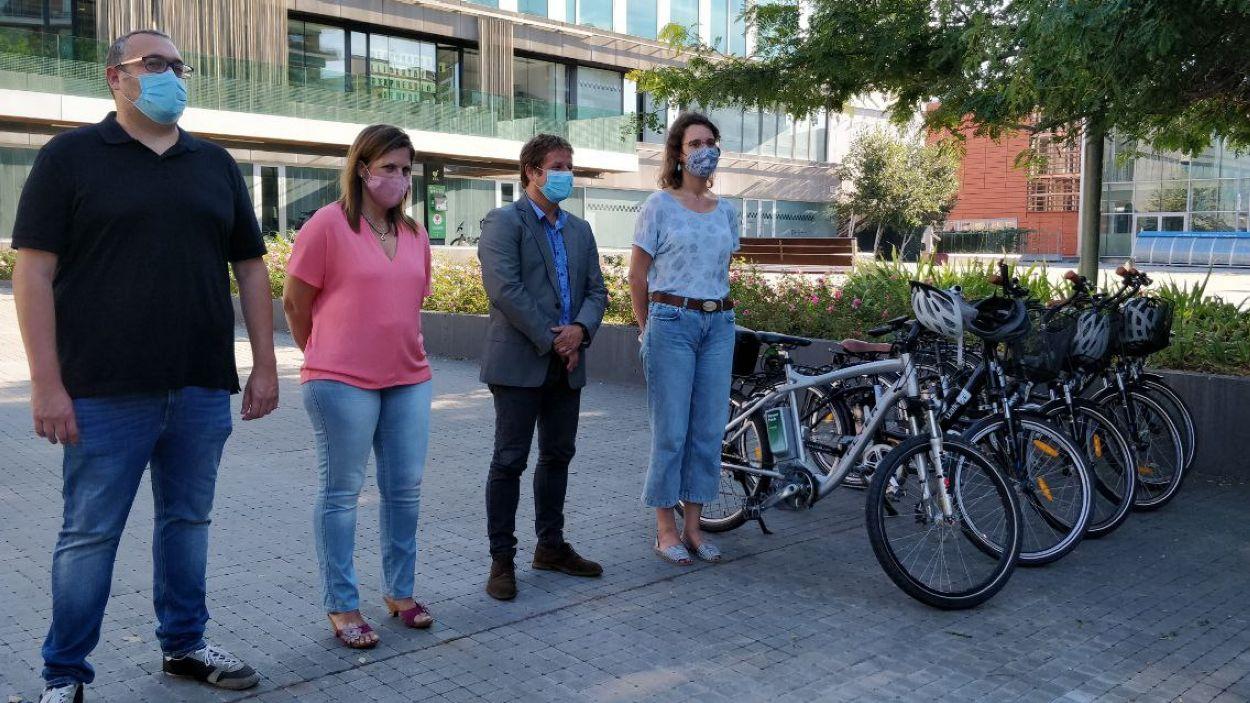 L'Ajuntament de Sant Cugat disposa de cinc noves bicis elèctriques / Foto: Cugat Mèdia