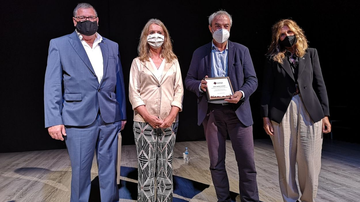 Josep Puig, Mireia Ingla, Jordi Jiménez i Susanna Herrada / Foto: Ajuntament de Sant Cugat
