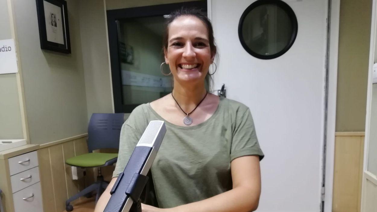 Gemma Aristoy a l'estudi Ramon Barnils de Cugat Mèdia / Font: Cugat Mèdia