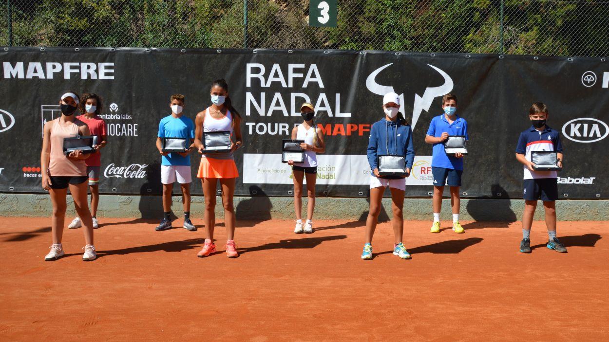 Imatge dels guanyadors del torneig Rafa Nadal al Club Esportiu Valldoreix / Font: Rafa Nadal Tour