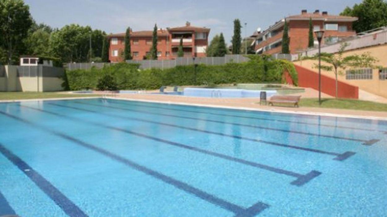 Imatge de la piscina del Parc Central / Font: Cugat Mèdia