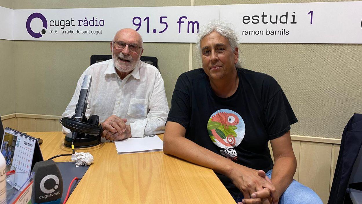Eduard Jener i Albert Puig a l'estudi de Ràdio Sant Cugat / Foto: Cugat Mèdia