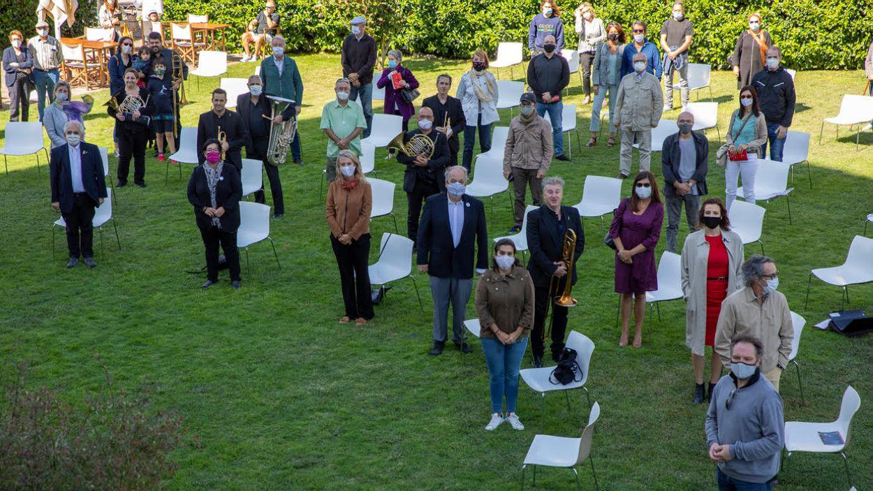 Foto de família de la presentació Orquestra Simfònica / Font: Mane Espinosa