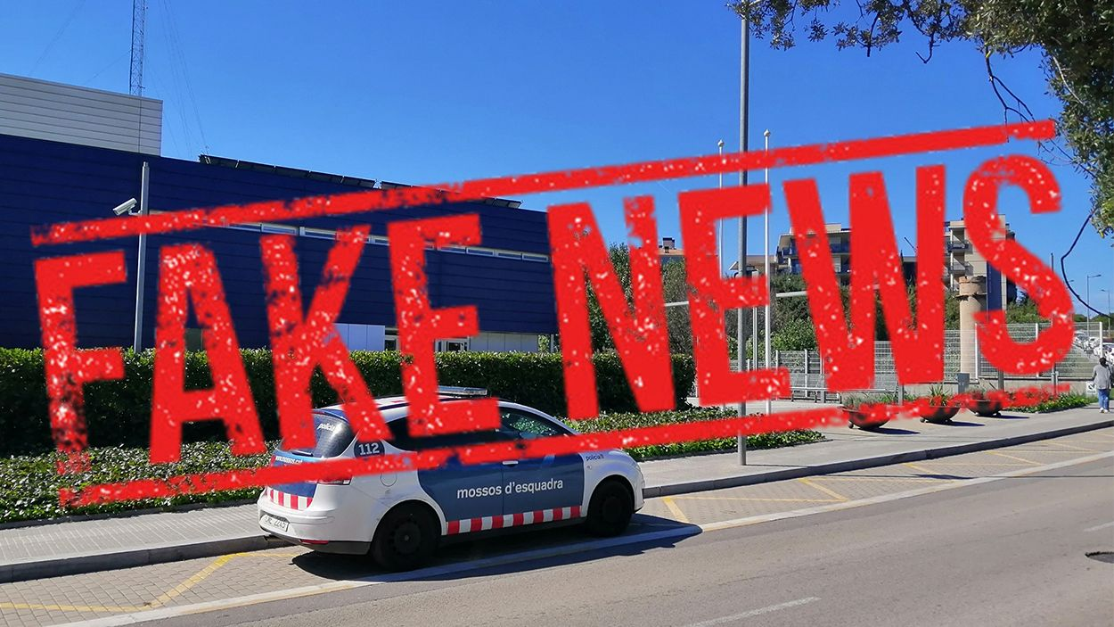 Fake news: És fals que només onegi la bandera catalana a la comissaria dels Mossos de Sant Cugat