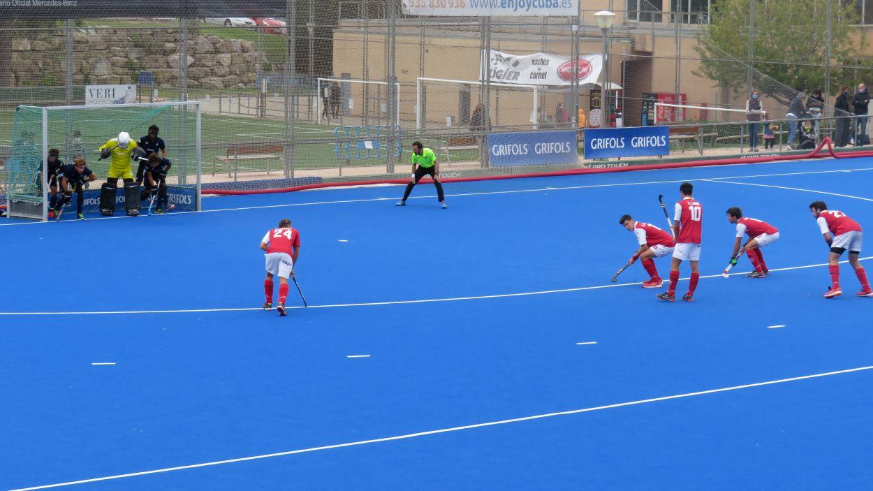 Imatge del partit entre el Junior i el CD Terrassa / Font: Cugat Mèdia