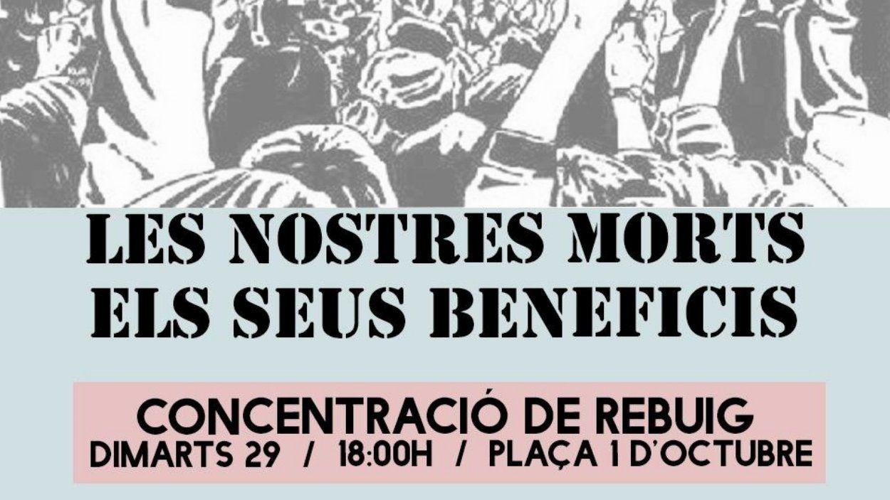 Detall del cartell de la convocatòria / Foto: Hora Bruixa, La Xesca, Arran, CUP