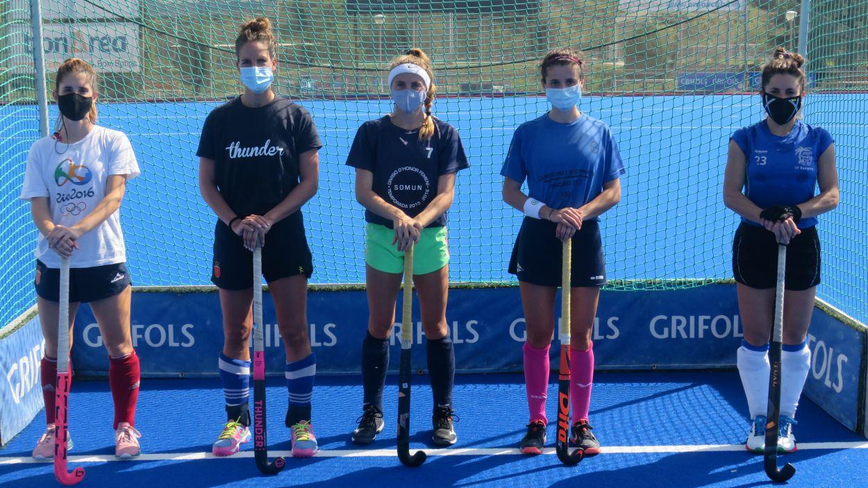 Representants del Junior d'hoquei amb la selecció espanyola / Font: Cugat Mèdia
