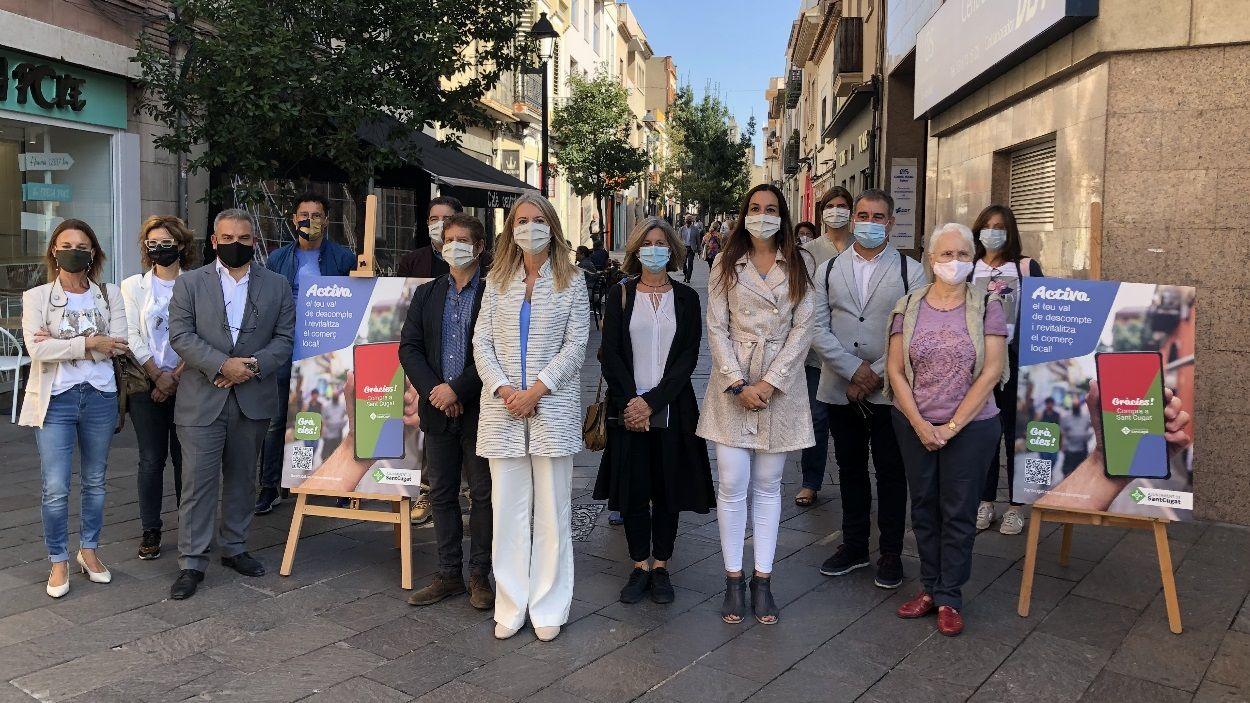 La campanya s'ha presentat a la plaça dels Quatre Cantons / Foto: Cugat Mèdia